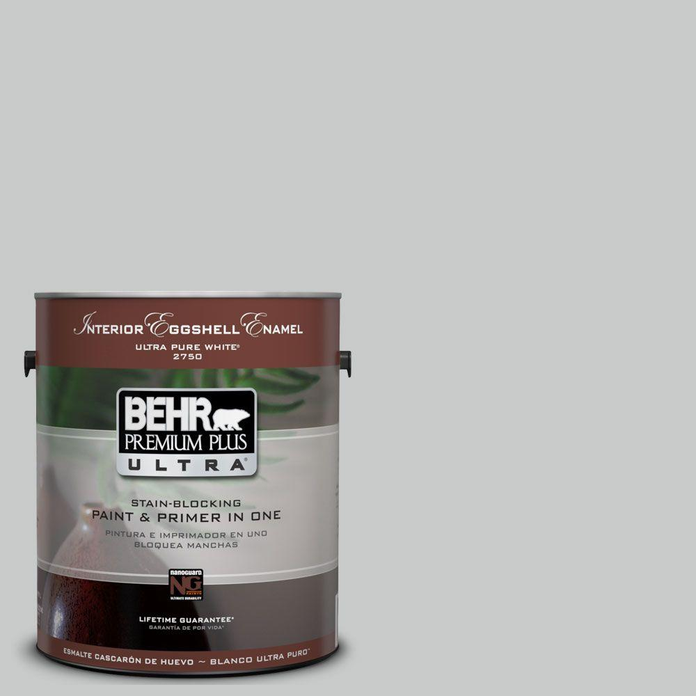 BEHR Premium Plus Ultra 1 gal. #UL260-17 Burnished Metal Eggshell Enamel Interior Paint and Primer in One