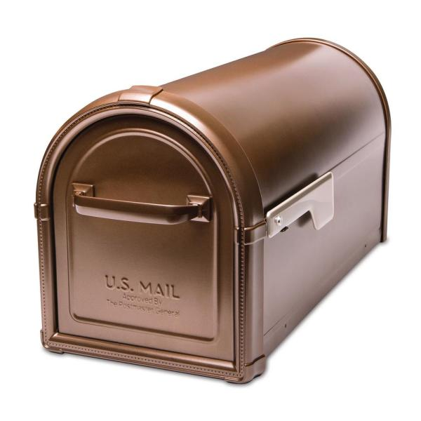 Hillsborough Post Mount Mailbox Copper