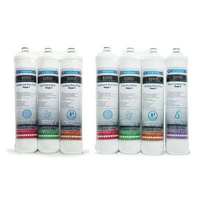 1-Year Pack Reverse Osmosis Water Filtration System with Full Filter Set