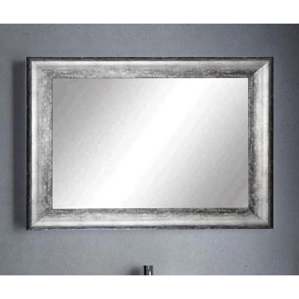 Midnight Silver Decorative Framed Wall Mirror-BM039L2 ... on Wall Mirrors id=77060