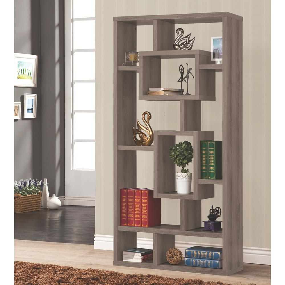 bookcase fayence large painted grey ladder with