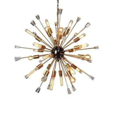 24-Light Gold Chandelier