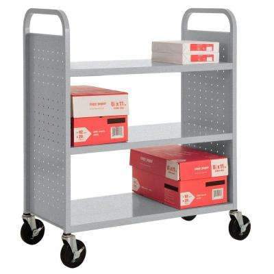 Multi-Granite Mobile Steel Bookcase