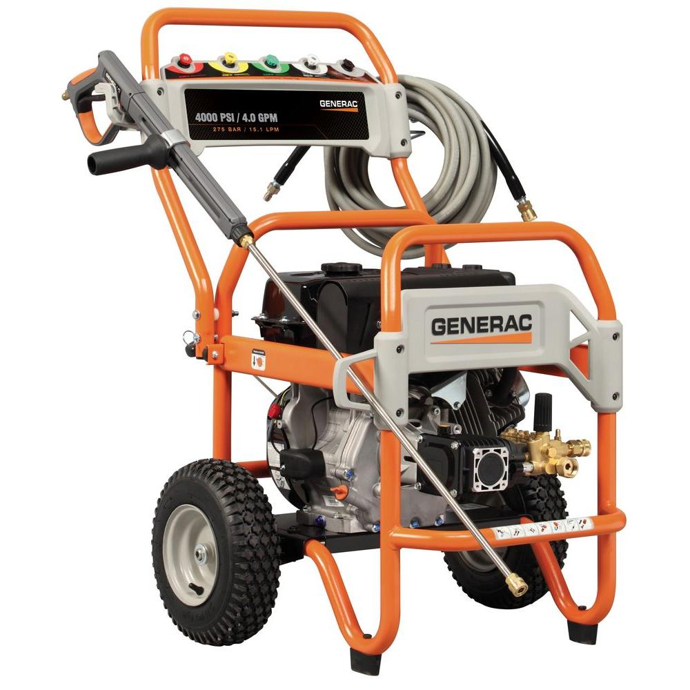 Generac 4000-PSI 4-GPM OHV Engine Triplex Pump Gas Powered Pressure Washer - DISCONTINUED