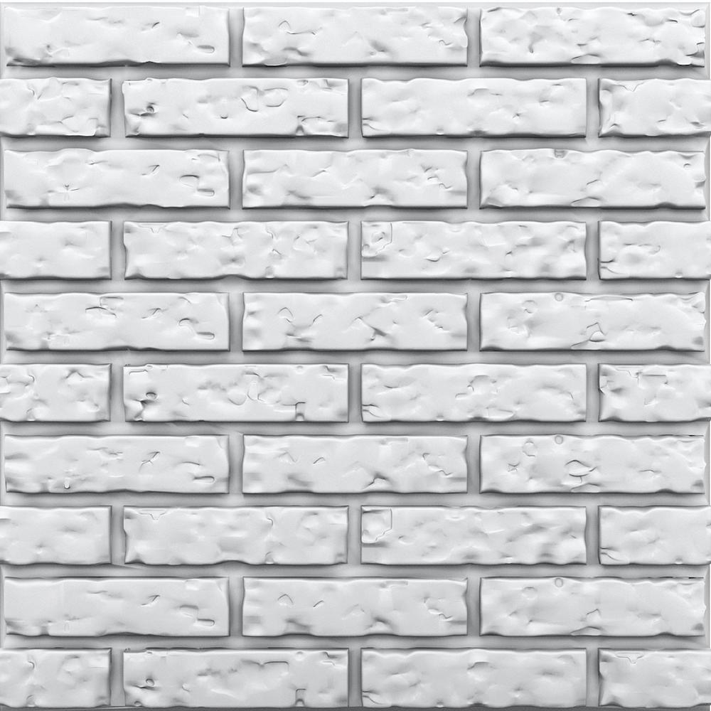 Brick 3/4 in. x 23-1/2 in. x 23-1/2 in. Seamless Foam Glue-Up Wall Panel