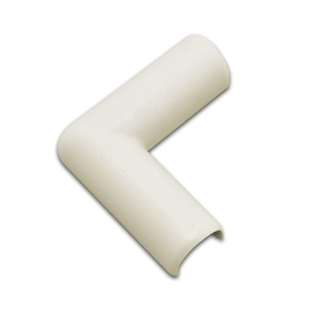 Cord Covers Cable Management The Home Depot Electric Wire Protection Pipe Buy Wiring Conduit Cordmate Flat Elbow Ivory