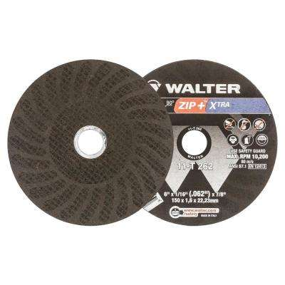 ZIP+XTRA 6 in. x 7/8 in. Arbor x 1/16 in. T1 Cutting Wheel (25-Pack)