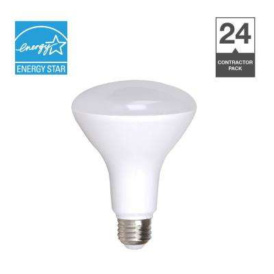 65-Watt Equivalent R30 Dimmable Contractor Pack Quick Install LED Light Bulb (24-Pack)