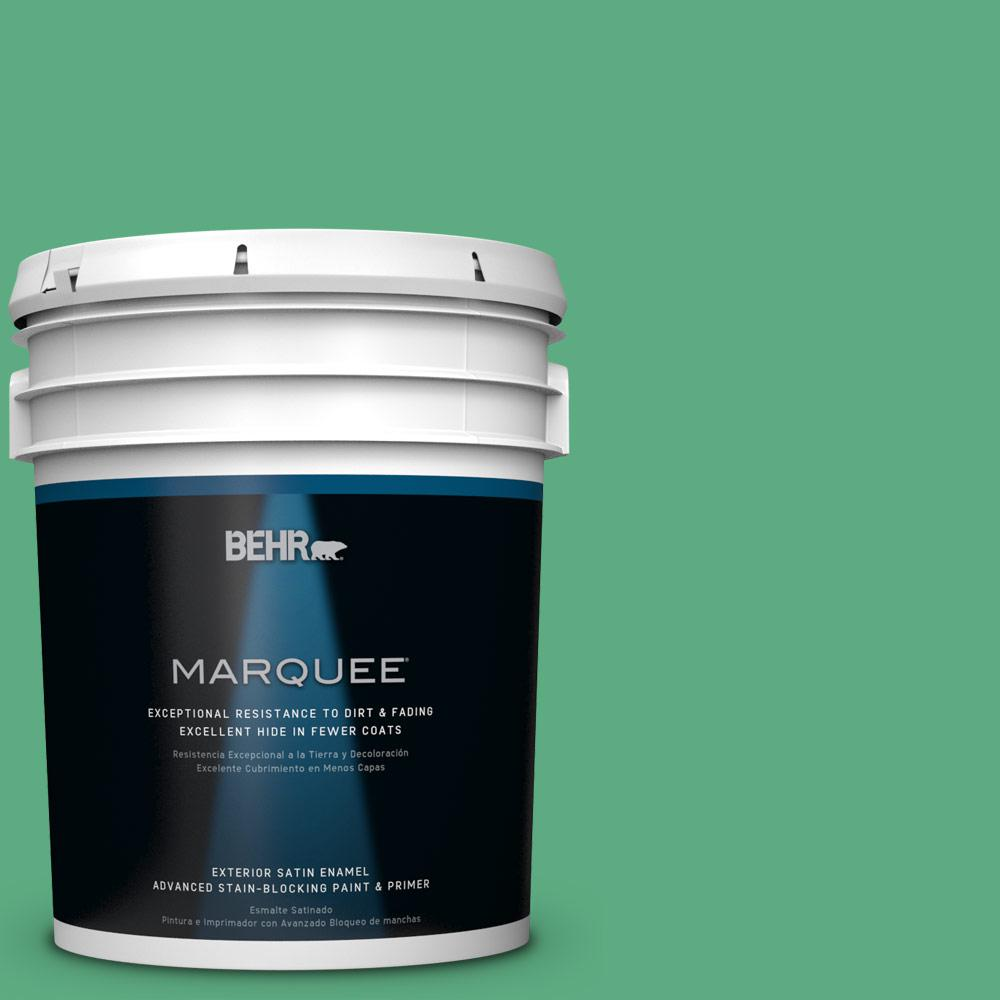 BEHR MARQUEE 5-gal. #T14-4 Edgewater Satin Enamel Exterior Paint