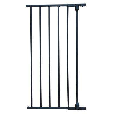 29.5 in. H x 15 in. W x 2 in. D Extension for XpandaGate Expandable Gate, Black
