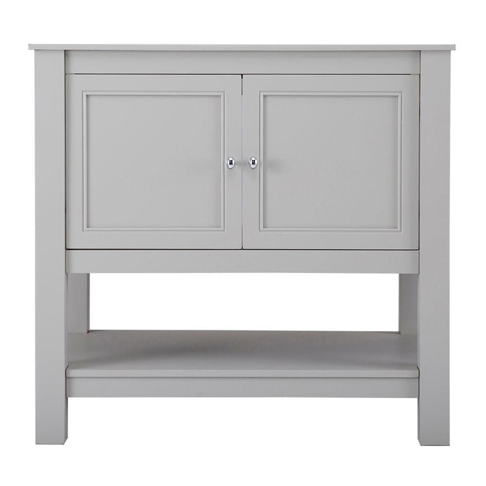 Gazette 36 in. W Bath Vanity Cabinet Only in Grey