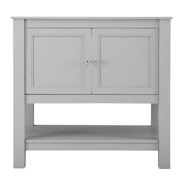 Gazette 36 in. W Bath Vanity Cabinet Only in Grey