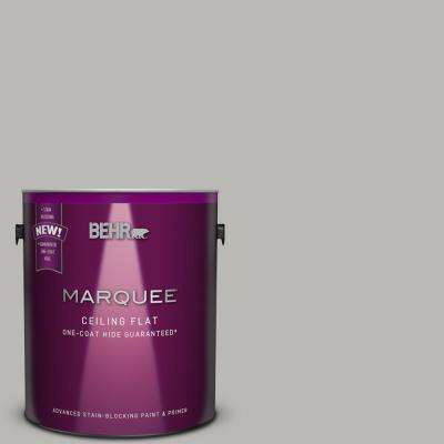 1 gal. #PPU18-11 Tinted to Classic Silver One-Coat Hide Flat Interior Ceiling Paint and Primer in One