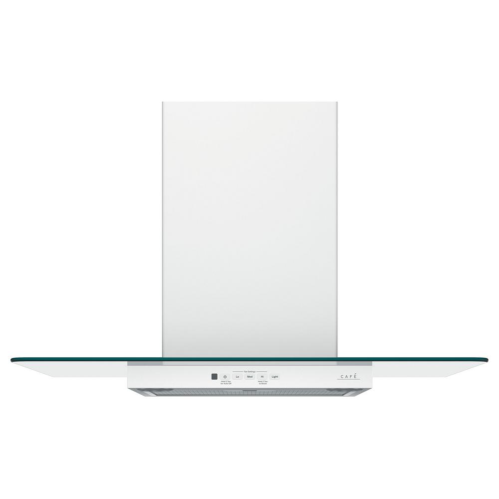 30 in. Wall Mount Range Hood with Light in Matte White,