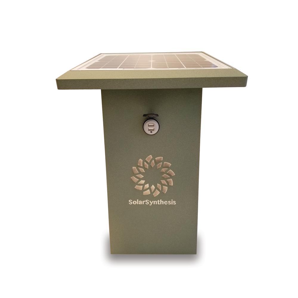 SolarSynthesis SuperCharge35 Green 480-Watt Solar Powered USB Port Plug Start Portable Generator with No Engine