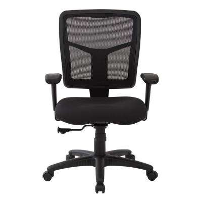 Black Mesh Back with Dove Black Fabric Seat Chair