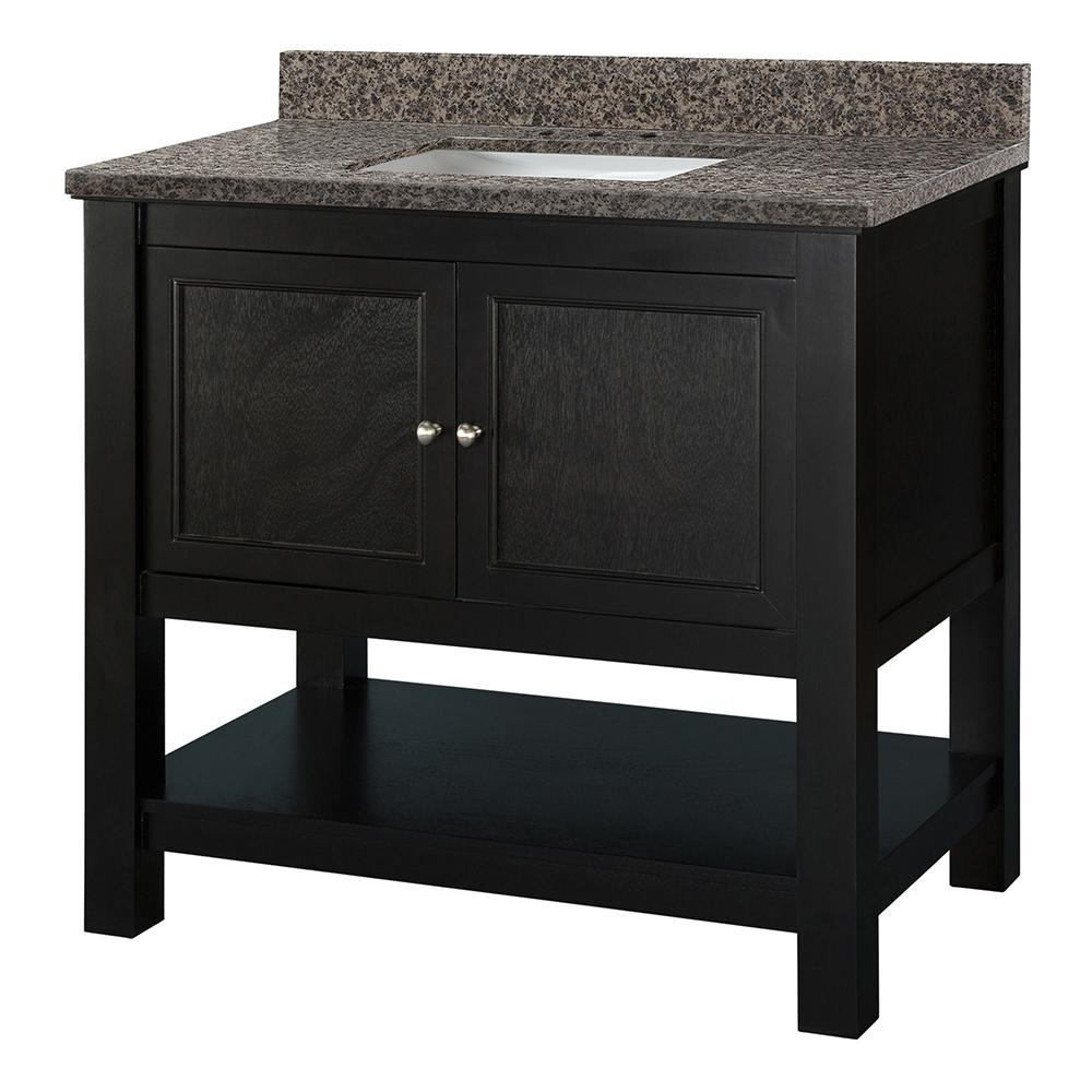 Home Decorators Collection Gazette 37 in. W x 22 in. D Vanity in Espresso with Granite Vanity Top in Sircolo with White Sink was $918.0 now $642.6 (30.0% off)
