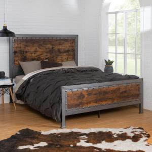 Walker Edison Furniture Company Queen Size Rustic Brown