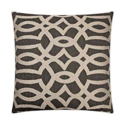 Neron Black Feather Down 24 in. x 24 in. Standard Decorative Throw Pillow