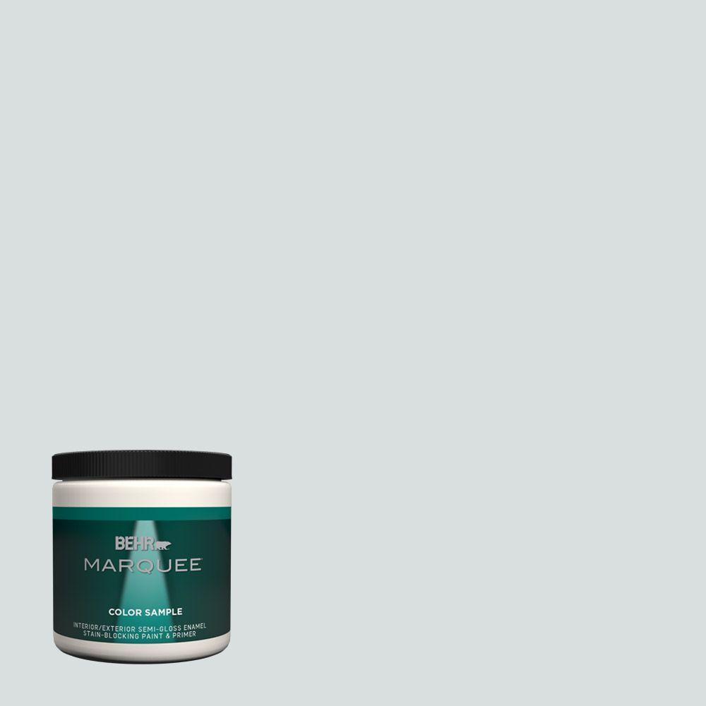 #MQ3 50 River Veil Semi Gloss Enamel Interior/Exterior Paint And Primer  Sample MQ33016   The Home Depot