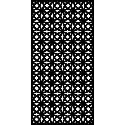 Orbit 0.3 in. x 71 in. x 2.95 ft. Recycled Plastic Decorative Screen in Slimline Frame in Charcoal (Bundle of 5)
