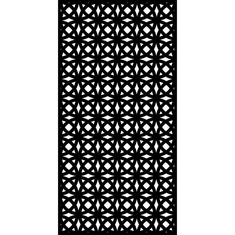 Orbit 71 in. x 35.5 in. Recycled Plastic Decorative Screen (Bundle of 5)