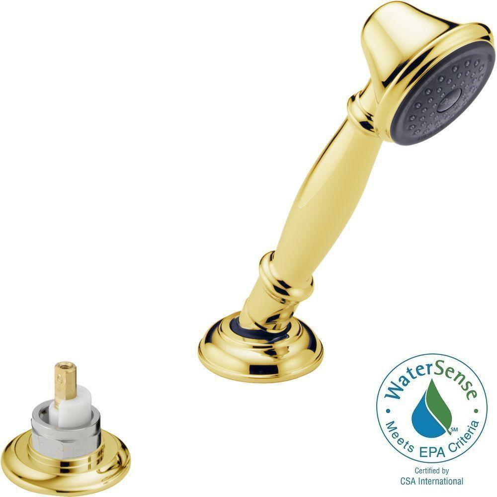 Delta Traditional Roman Tub Hand Held Shower in Polished Brass
