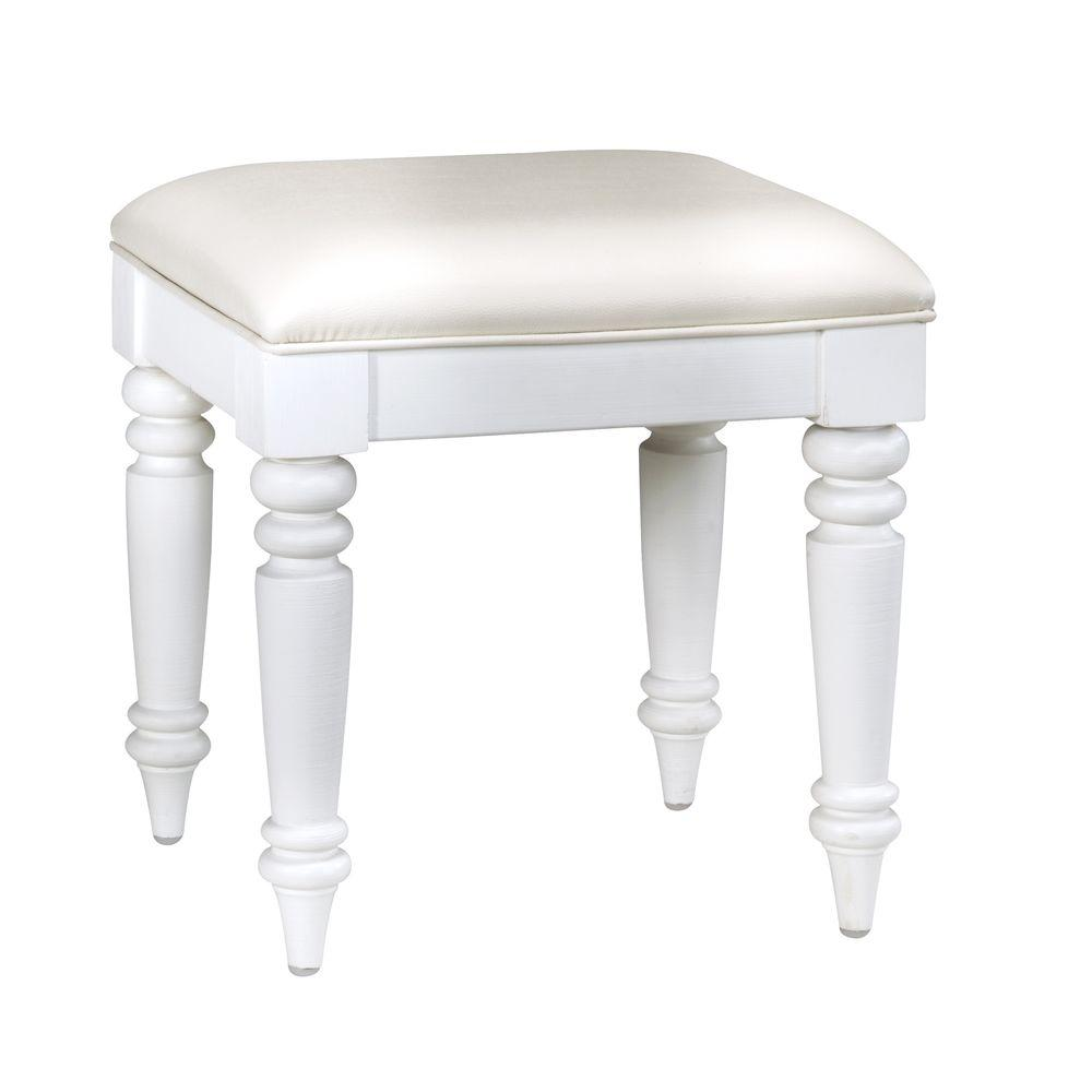 Home Styles Bermuda White Vanity Bench
