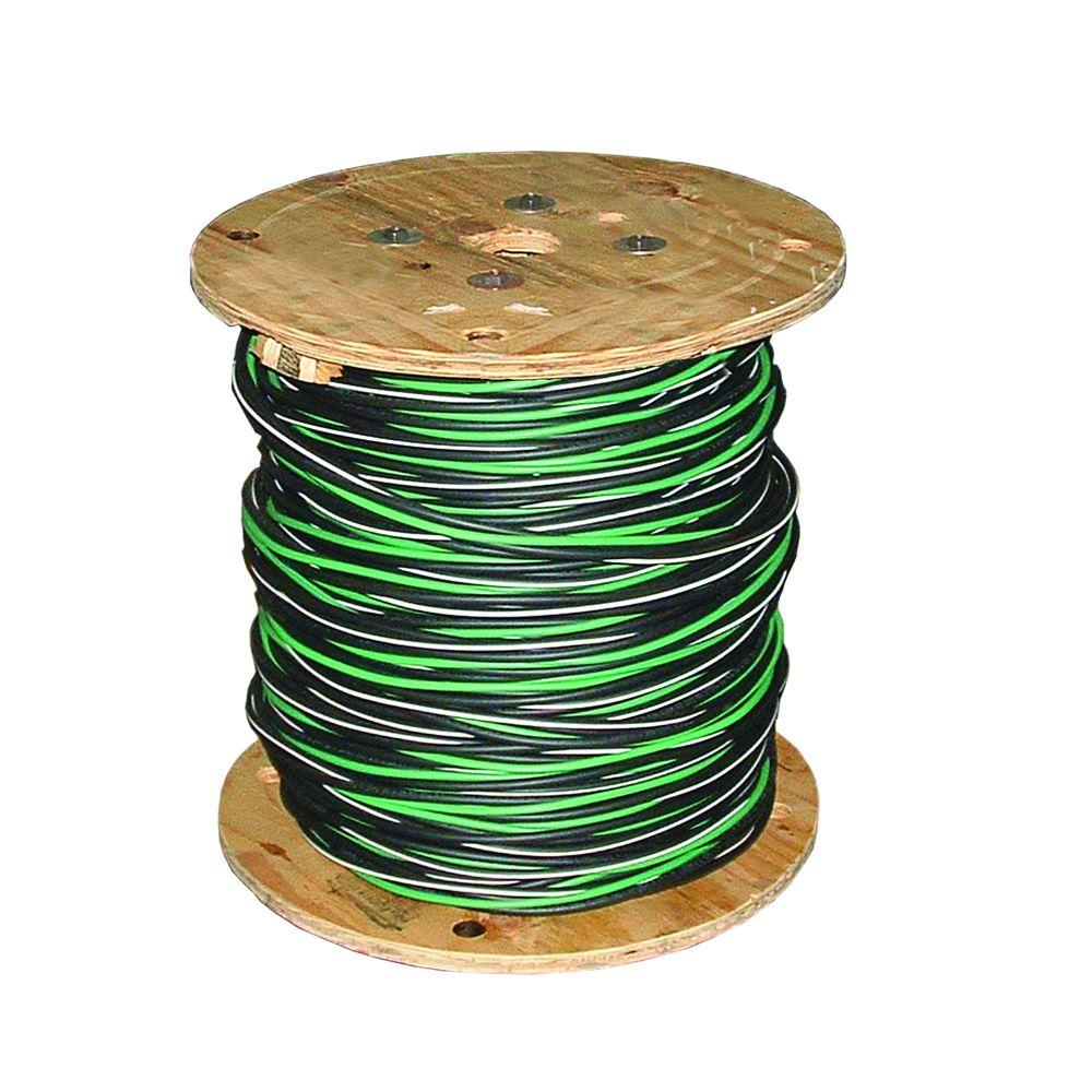 Southwire 500 ft. 2-2-2-4 Black Stranded AL MHF USE-2 Cable-28712801 ...