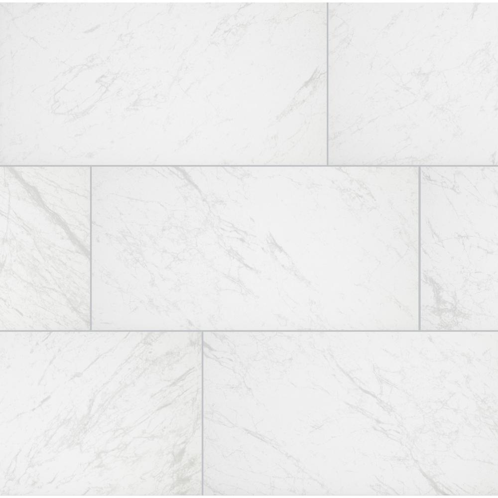 Florida Tile Home Collection Brilliance White Rectified 12 in. x 24 in. Porcelain Floor and Wall Tile (13.3 sq. ft. / case)