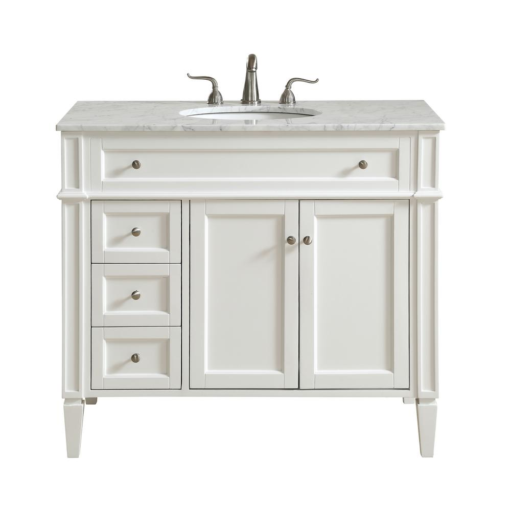 Nanticoke 40 in. Single Bath Vanity w/ 3 Drawers 1 Shelf 2 Doors ...