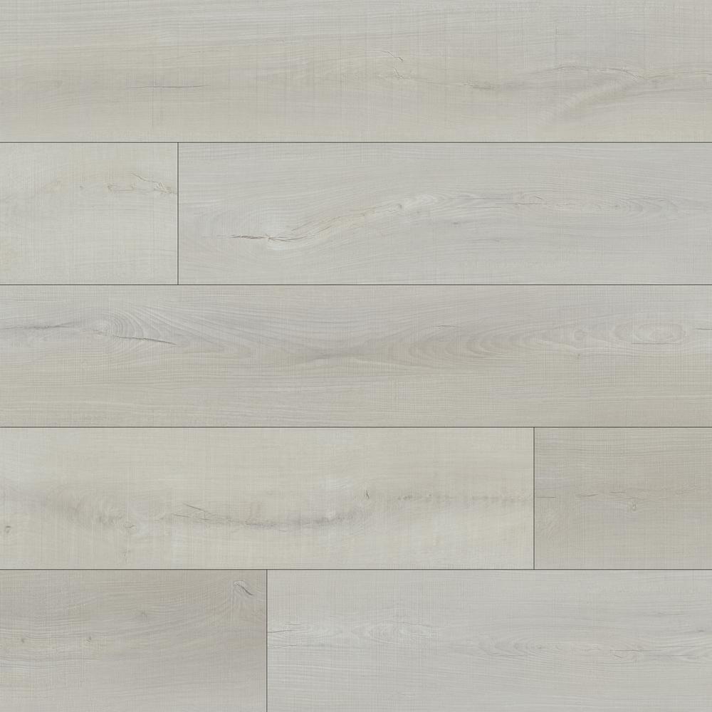 Piedmont Whitmore White 7 in. x 48 in. Rigid Core Luxury Vinyl Plank Flooring (23.8 sq. ft. / case)