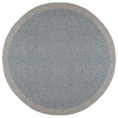 Serenity Light Blue 7 ft. 6 in. x 7 ft. 6 in. Round Area Rug