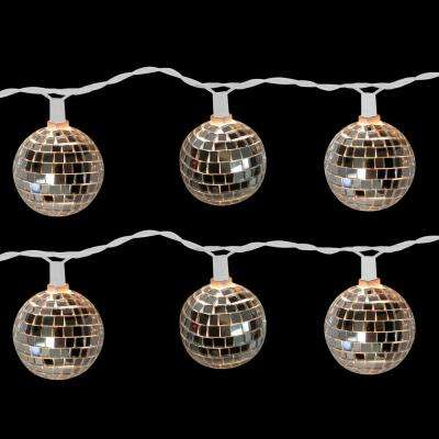10-Light Disco Ball Clear Light Set (Set of 2)