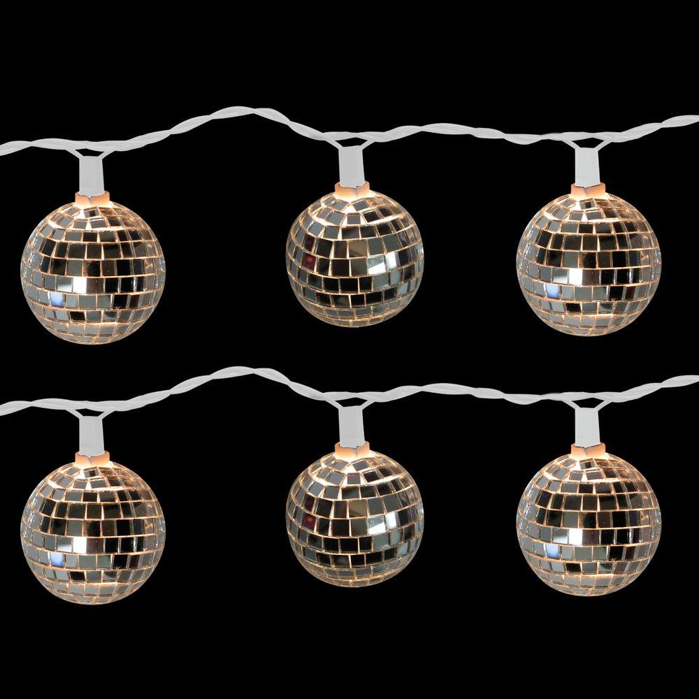 10 Light Disco Ball Clear Set Of 2