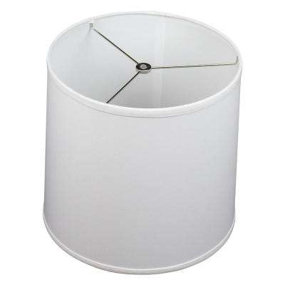12 in. Top Diameter x 13 in. Bottom Diameter x 12 in. Linen White Slant Empire Lamp Shade