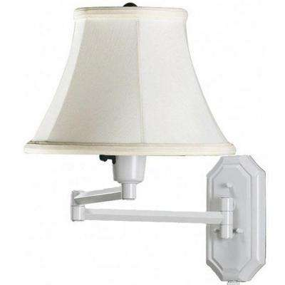 Attrayant Traditional White Swing Arm Lamp