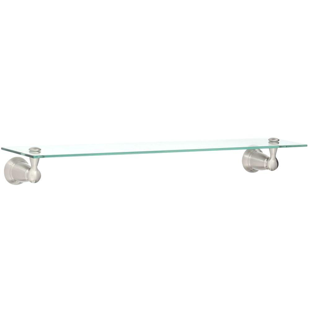 Moen Banbury 2275 In W Glass Shelf In Brushed Nickel Y2690bn The