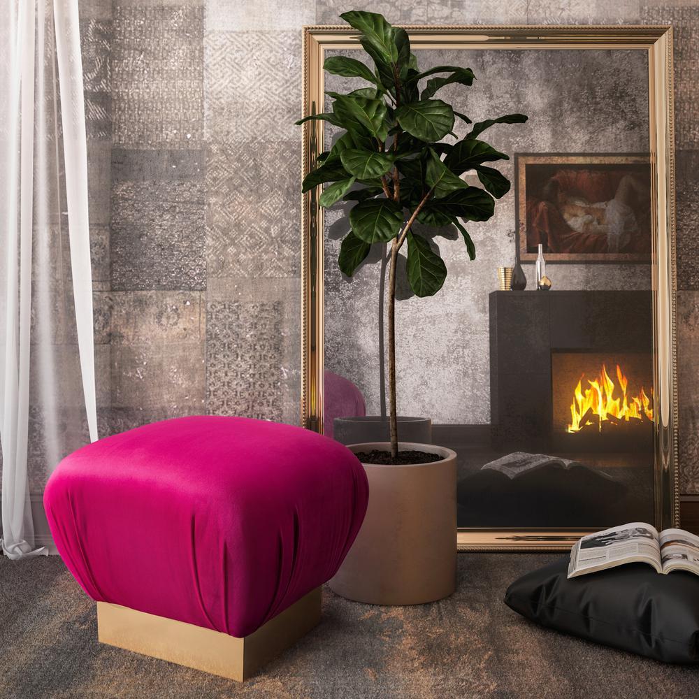 Lotus Hot Pink Ottoman