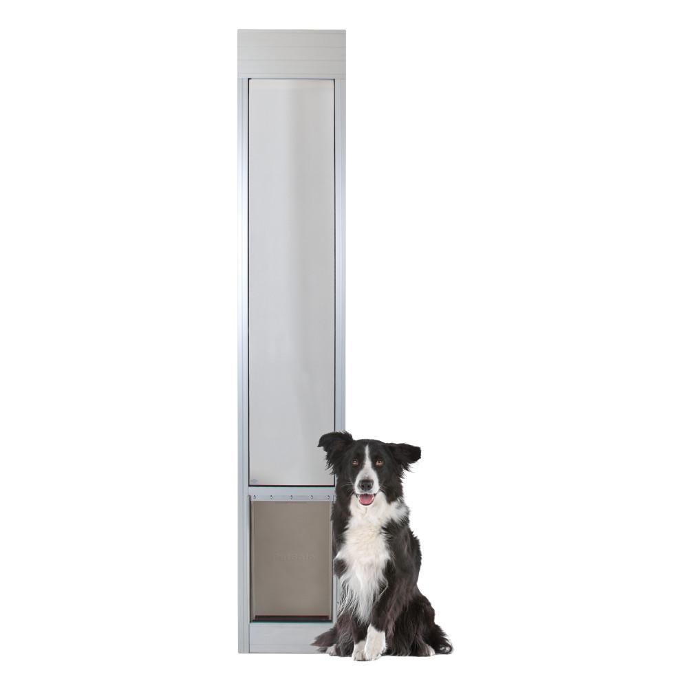 10-1/4 in. x 16-3/8 in. Large Satin Freedom Patio Panel (76 in. to 81 in.) Pet Door