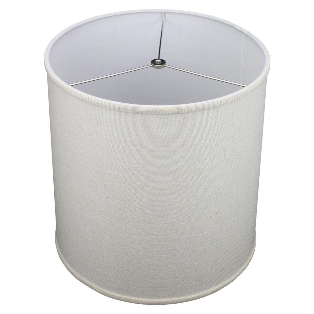 Fenchel Shades 14 in. Top Diameter x 15 in. Bottom Diameter x 15 in. Slant,  Empire Lamp Shade - Burlap Off White