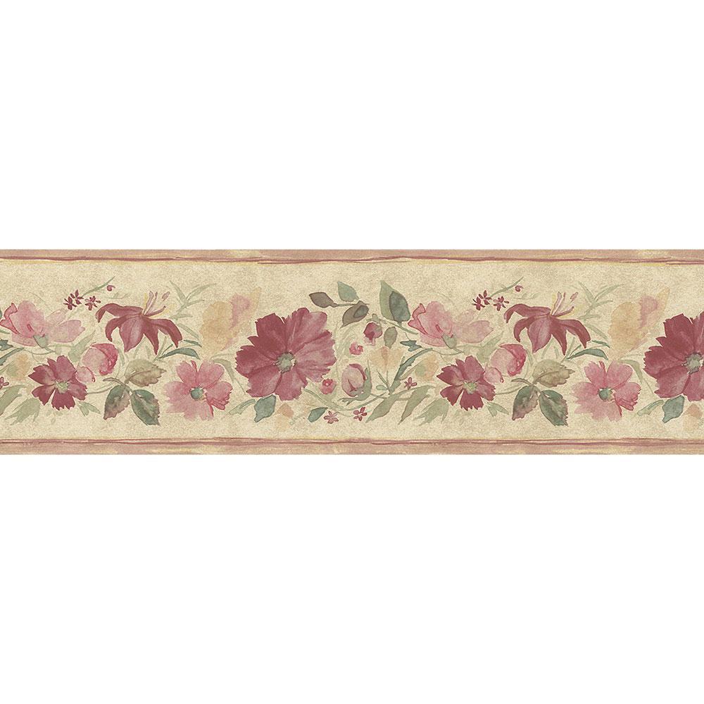 Fluted Floral Wallpaper Border