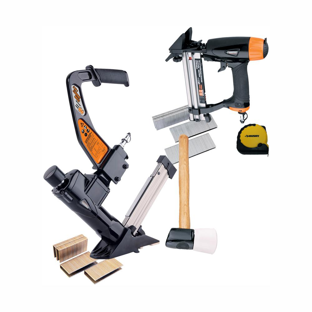Freeman Ultimate Pneumatic Flooring Nailer Kit with Fasteners (2-Piece)