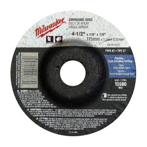 Depressed Aggressive Grinding for Metal /& Stainless Steel 4-1//2 x 1//4 x 7//8-Inch 4 1 2 Grinding Wheel for Grinders Milwaukee 10 Pack