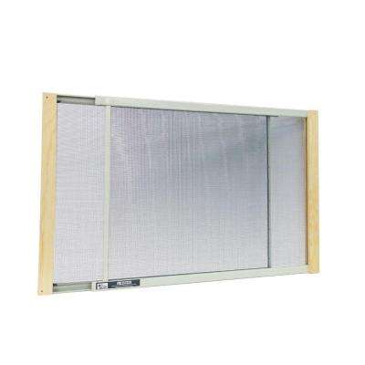 19 - 33 in. W x 10 in. H Clear Wood Frame Adjustable Window Screen