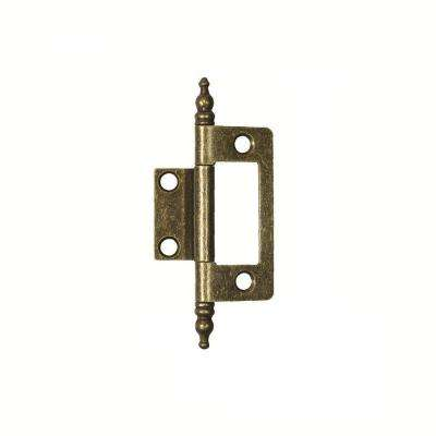 2 in. x 1-5/8 in. Antique Brass Furniture Barrel Hinge