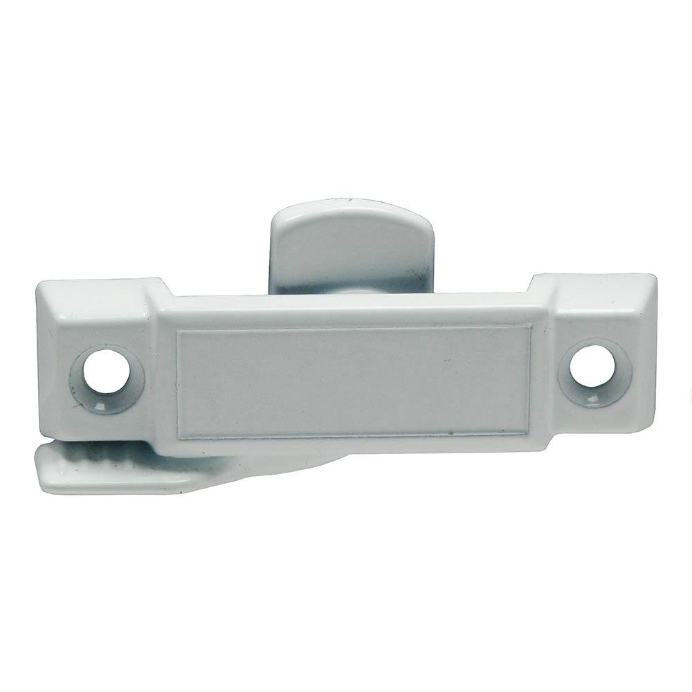 Barton Kramer 1-31/32 in. White Cast Metal Single Hung Window Sash Lock (2-Pack)