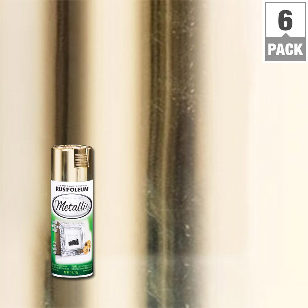 Rust-Oleum Specialty 11 oz. Metallic Gold Spray Paint (6-Pack)