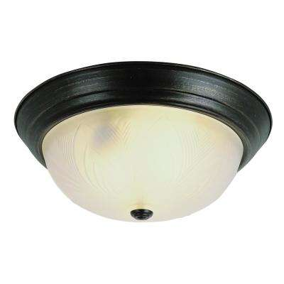 Del Mar 26-Watt Rubbed Oil Bronze Integrated LED Flush Mount
