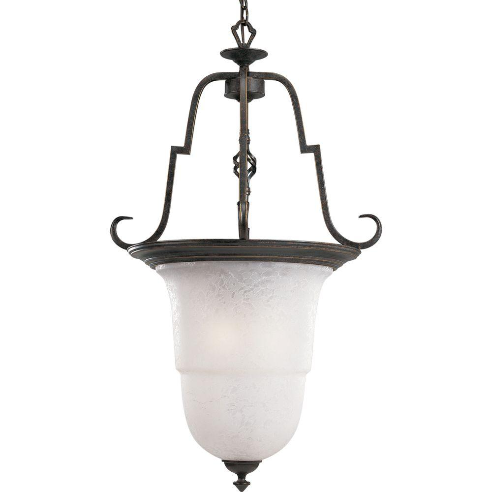 Progress Lighting Melbourne Collection 3 Light Espresso Pendant With Etched Watermark Gl